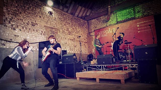 Big love and thanks to all at @deepdalefarm yesterday for indulging us! Lovely festival as always - can't wait to go back :) . . . . #festival #festivalseason #lastfestivaloftheyear #gig #show #band #rockband #rockandroll #blues #bluesrock #stage #guitar #singer #drums #unsigned #diy #norfolk #barn #barnvenue #barnstage