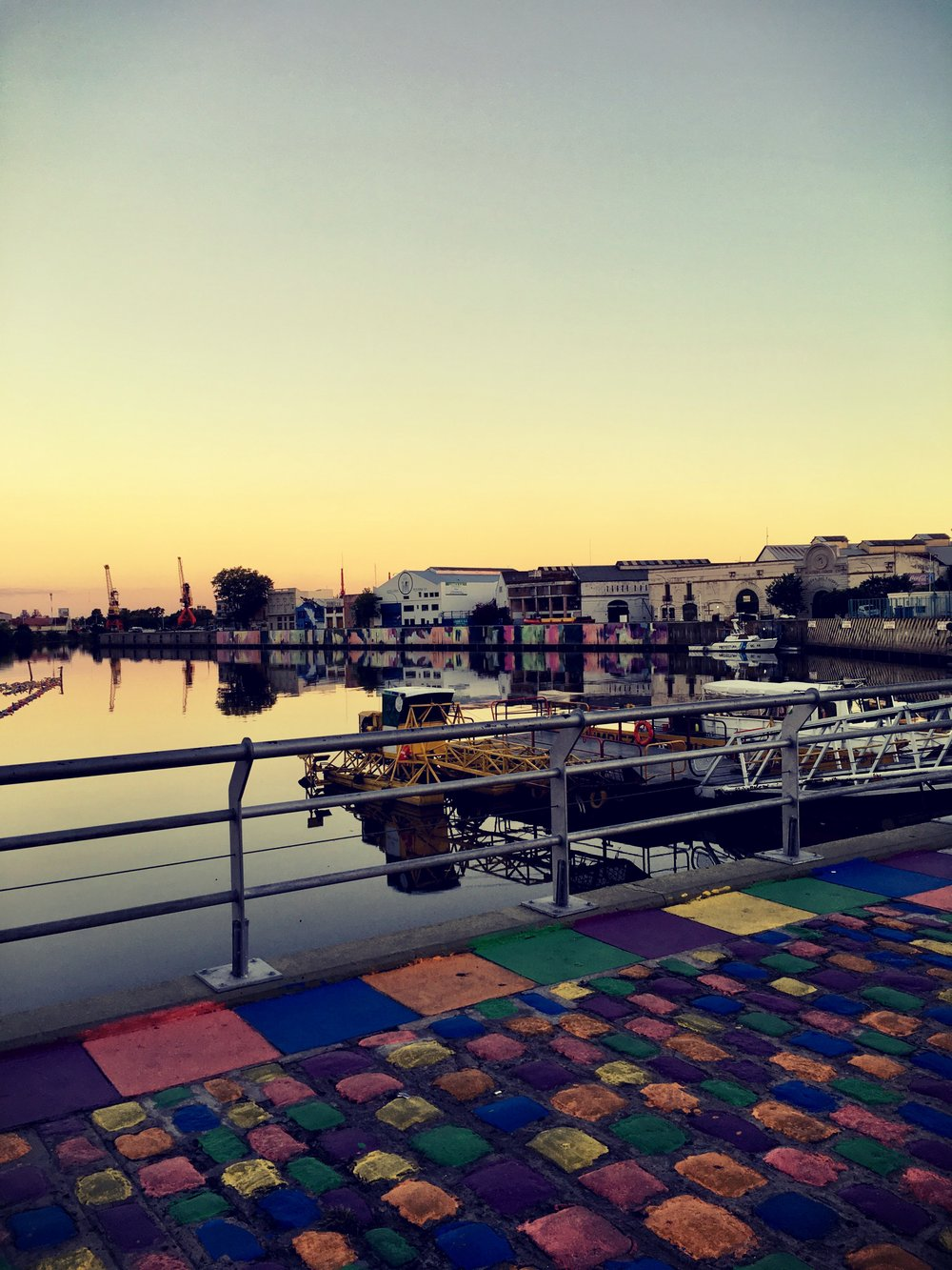 Colorful boardwalk in Uruguay