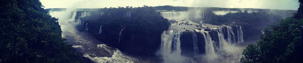 Famous Iquazu Waterfalls on the border of Argentina and Brazil