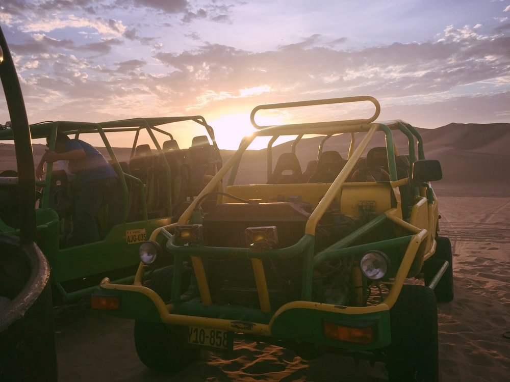 Sunset  dune buggy  adventures