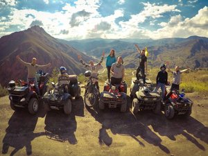 quad biking in the mountains of La Paz - Illimani