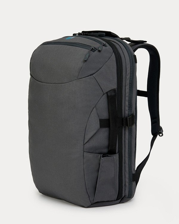 Minaal 2.0 backpack  - The inside of the backpack is like a jigsaw puzzle of places to best pack as compact as possible; it makes things a lot easier when you're on the move.