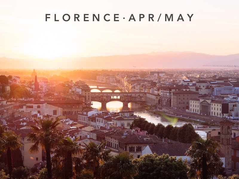 Apr 13 - May 11 | Florence Italy