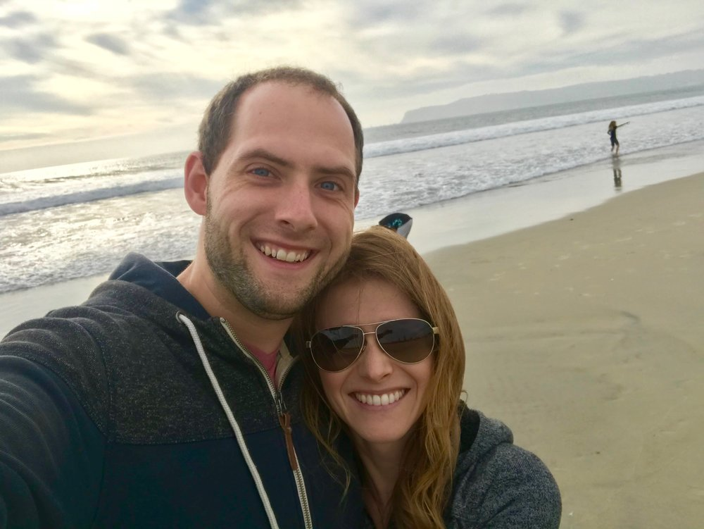 Will and Lindsey in Coronado, California