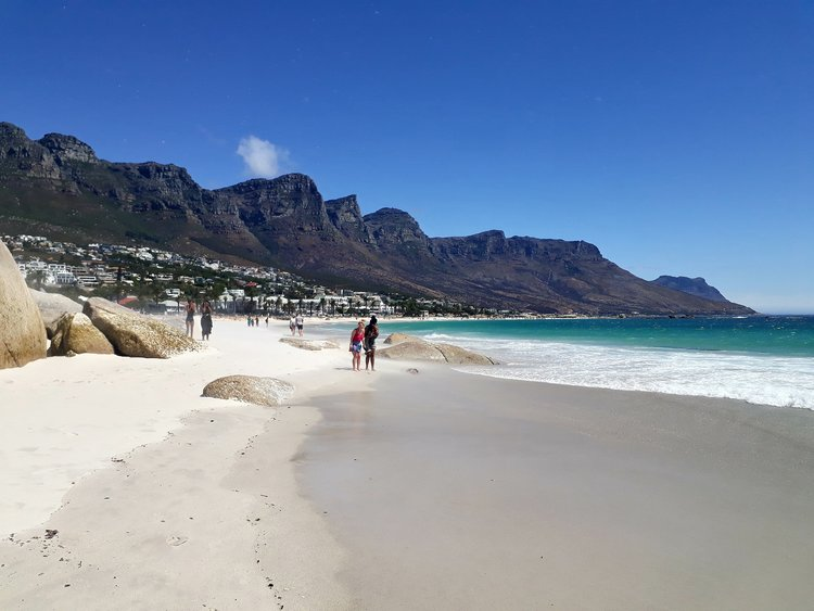 Camps Bay with the 12 Apostles Mountains - Photo by Pia Newman