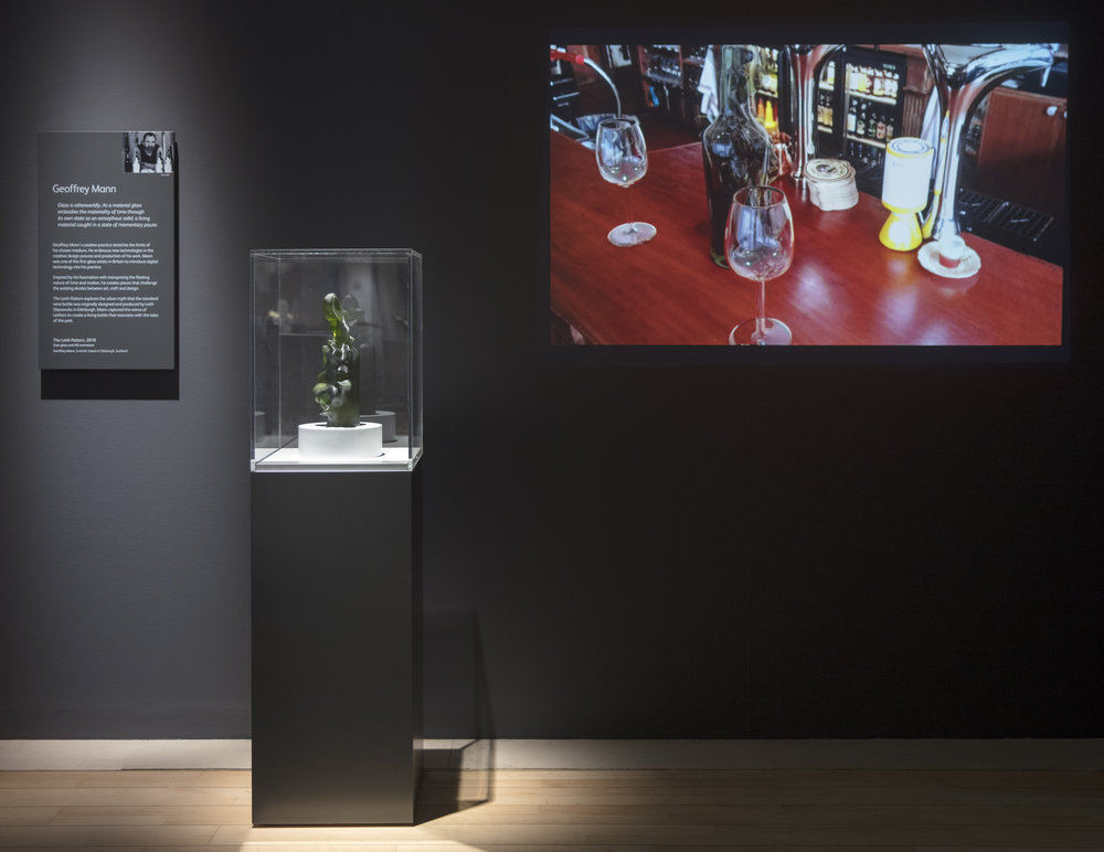The Leith Pattern   Cast glass, HD animation  Art of Glass Exhibition installation  National Museum of Scotland  2018