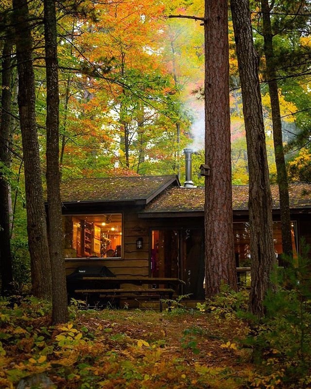 The cottage!  #cottage #cabinstory #mazinawlake #fallleaves #canon #canon6d #canon70200 #cottagecountry #ontario