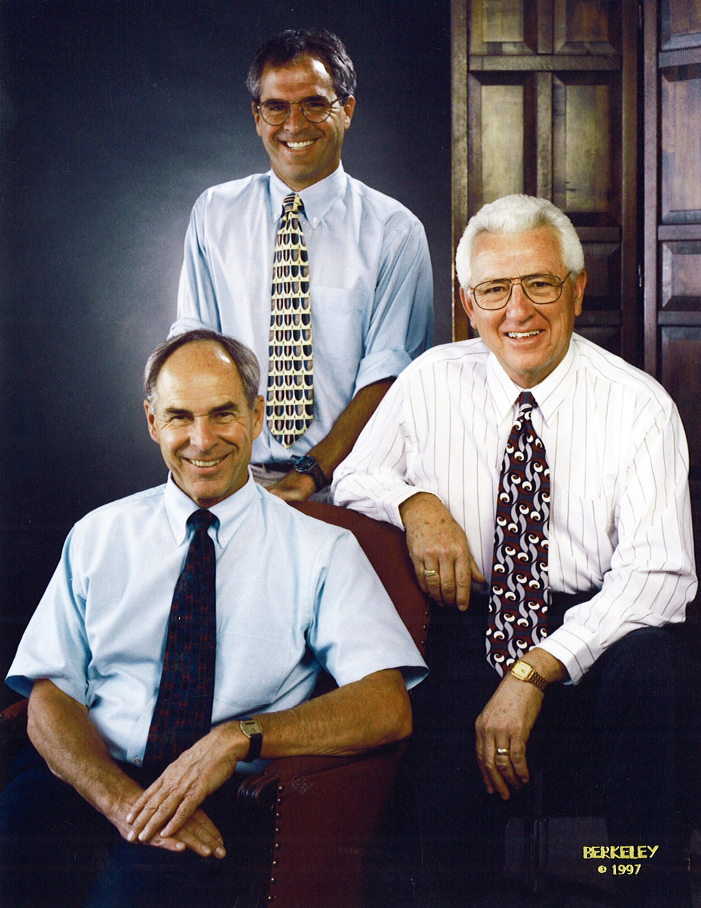 Hyder's founders, Neil McLagan, Tom McLagan, Ray Lobato (from left to right), 1997