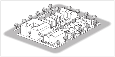 Drawing of a neighborhood layout
