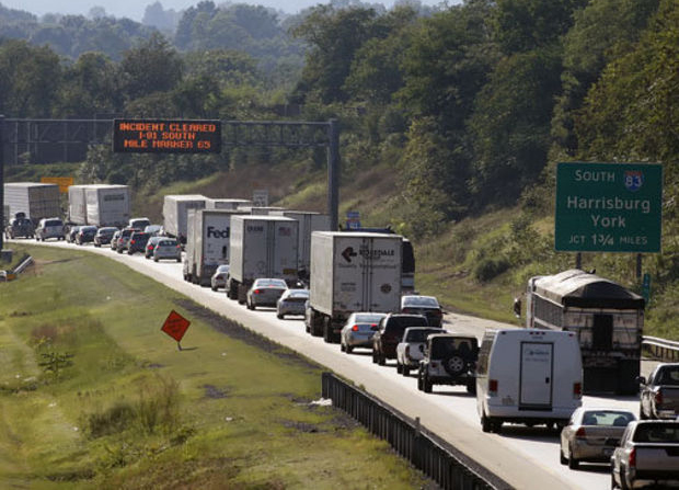 Traffic backed up on South Interstate 83