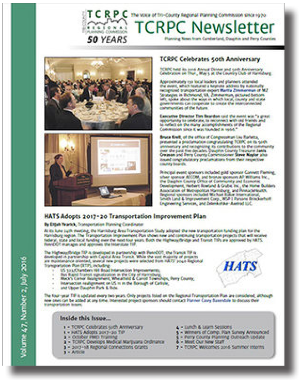 Sample newsletter cover