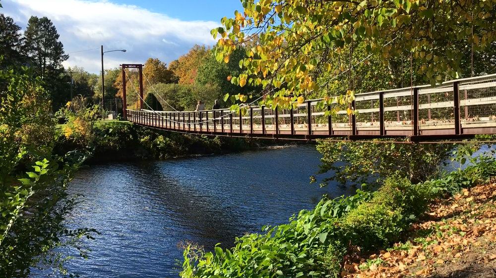 Pedestrian bridge over Wiconisco Creek in Millersburg