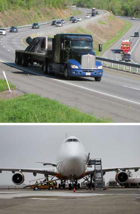 truck and plane