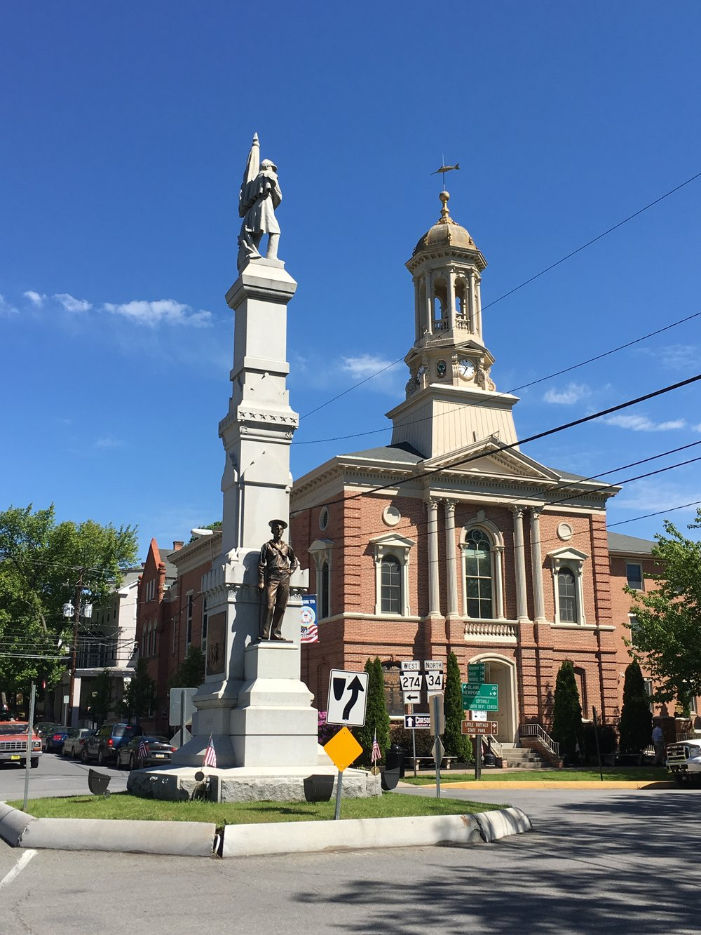 Bloomfield Borough square, Perry County
