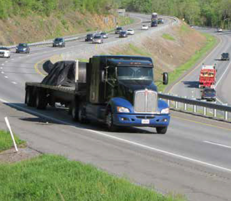 Truck on Route 322