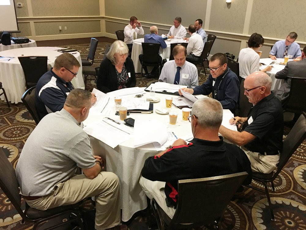 The summit included breakout sessions in which attendees discussed strategic choices for regional freight movement.