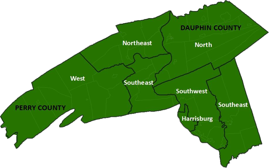 Regional Planning Areas map