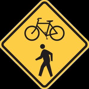 Bike-ped sign