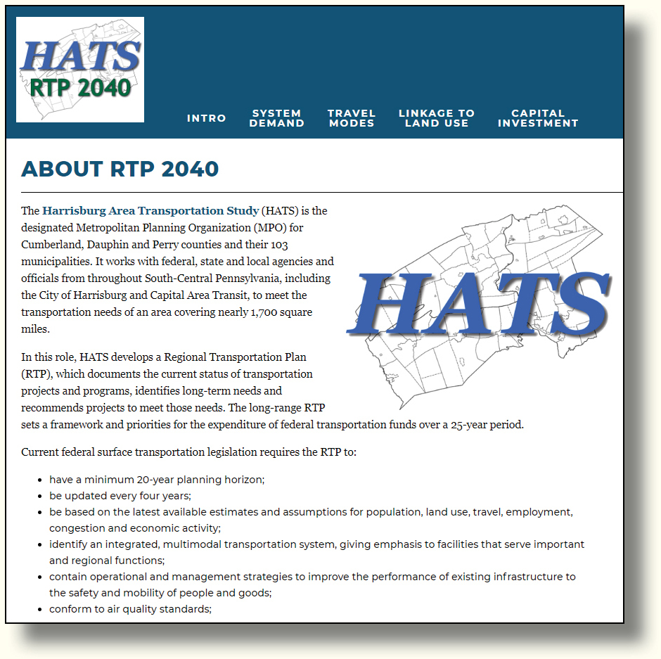 RTP website homepage image