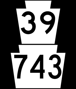 Routes 39/743 Signs
