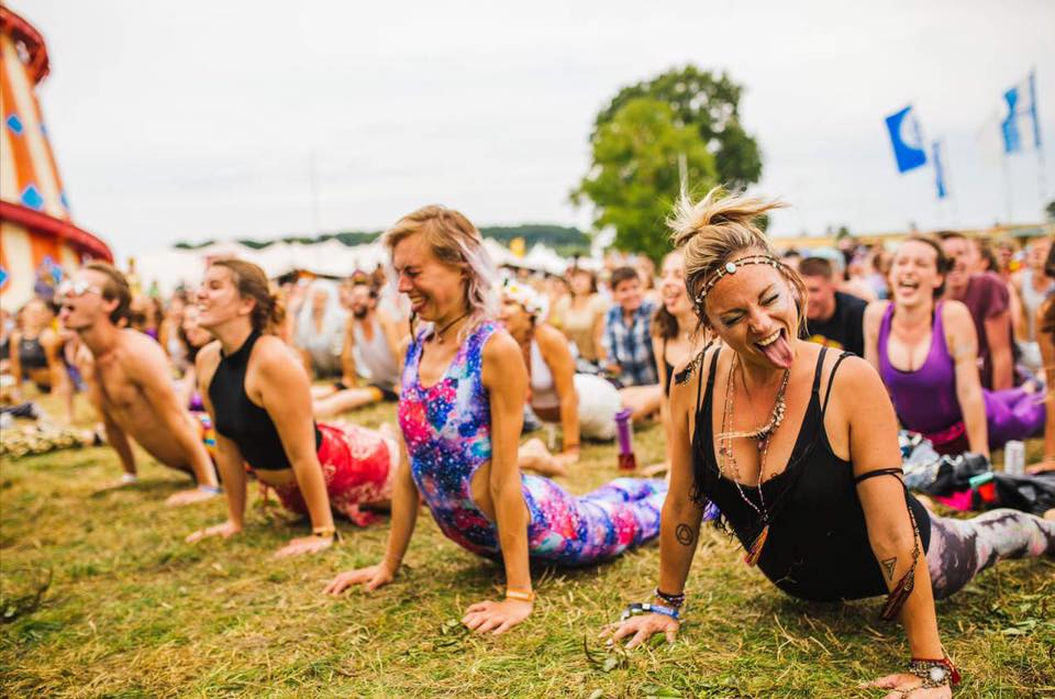 Power ballad yoga at Shambala 2016 helped us find our inner festival rock zen.