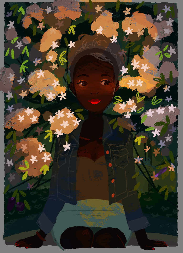 Girl in Blooms