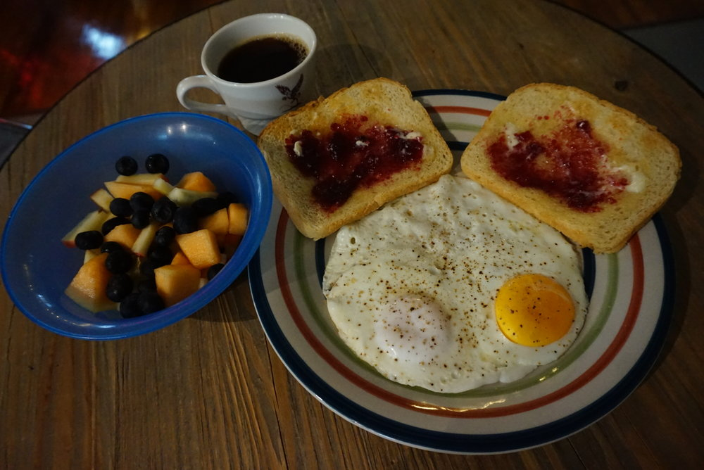 Breakfast is available during your stay for $5 -