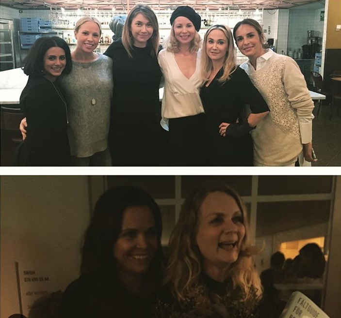 """Min fina svägerska Clara som jag gjort dramaserien """"Bonusfamiljen"""" ihop med som kommer på SVT i januari."""