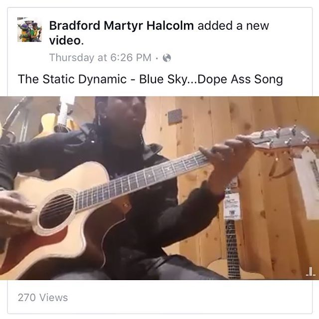 "Cheers to the people out there who support us... like Bradford who sent us a video of him playing our tune ""Blue Sky"". Pretty rad man. 👏"