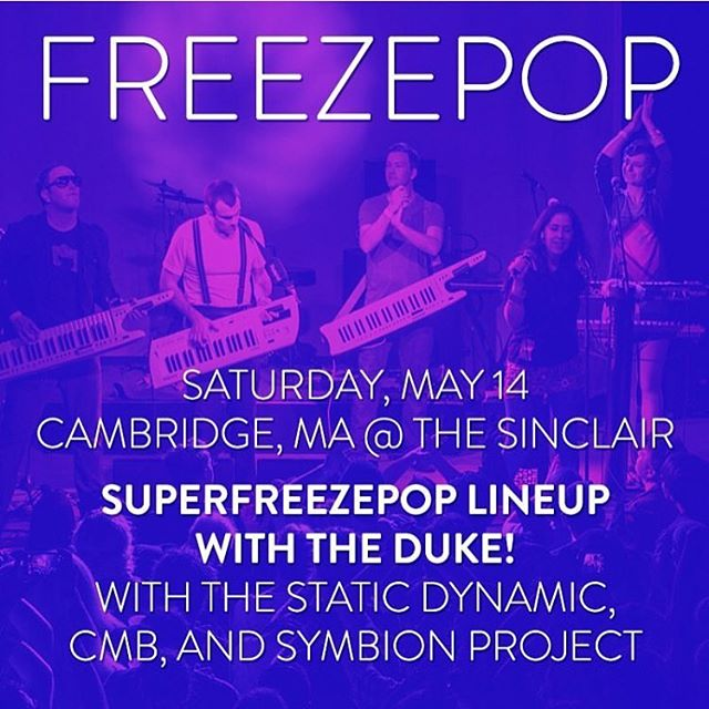 We are super pumped for this show with @freezepopband and some other kick ass bands. Tix on sale now at www.sinclaircambridge.com