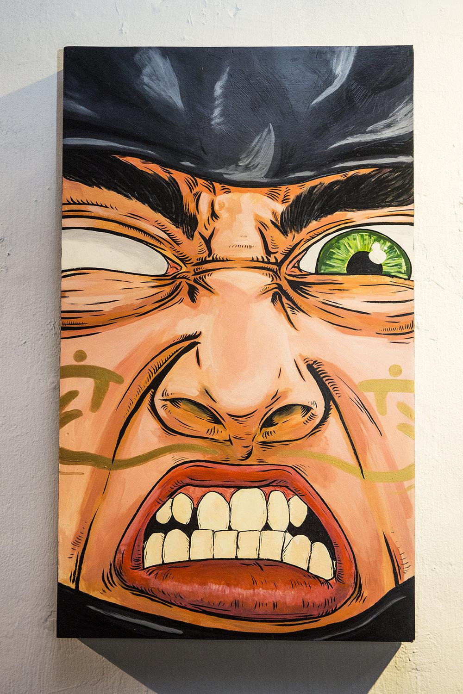 Passion  35 x 60 x 5cm  Acrylic Paint & Ink on Wood Box