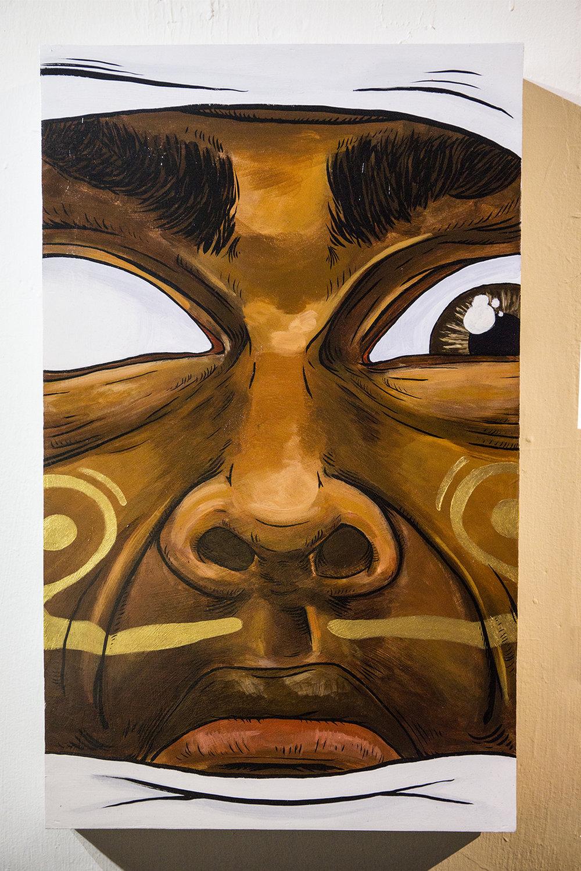Perseverance  35 x 60 x 5cm  Acrylic Paint & Ink on Wood Box