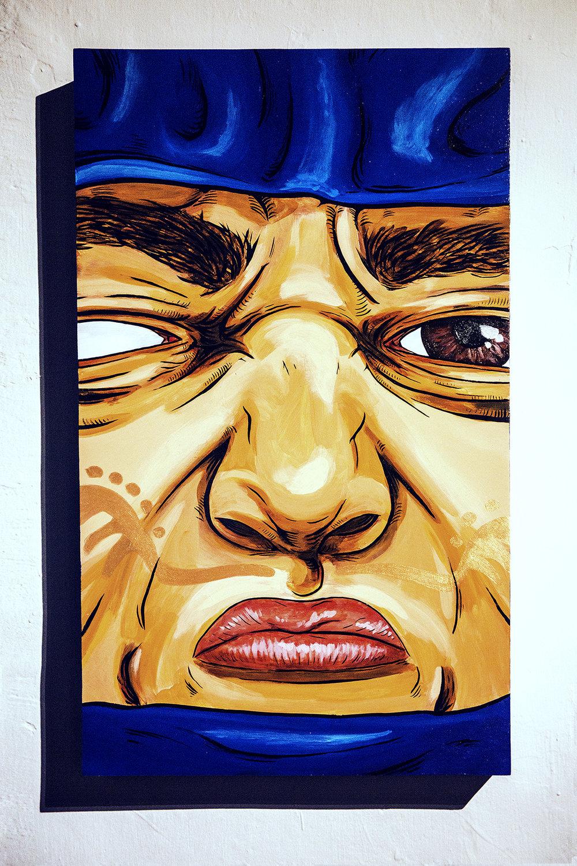 Wonder  35 x 60 x 5cm  Acrylic Paint & Ink on Wood Box