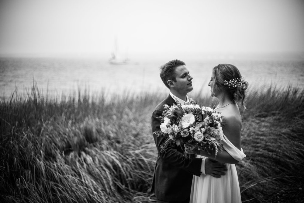 Portrait of the Bride & Groom, Wedding of Annie & Silas, Bristol, Rhode Island