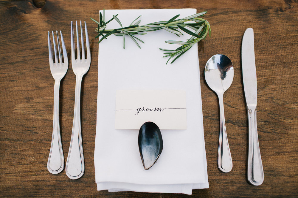 Detail with Rosemary, Wedding of Annie & Silas, Bristol, Rhode Island