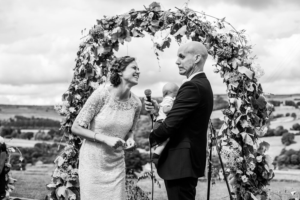 The Vows, Wedding of Hannele & Enys, Sheffield, England, UK
