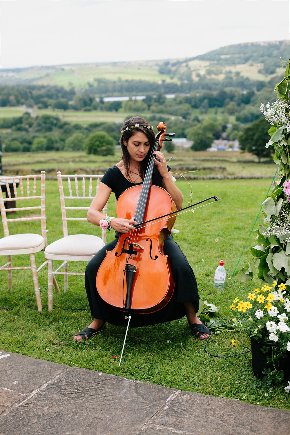 Suzy Plays the Cello, Wedding of Hannele & Enys, Sheffield, England, UK