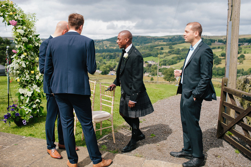 Groomsmen, Wedding of Hannele & Enys, Sheffield, England, UK