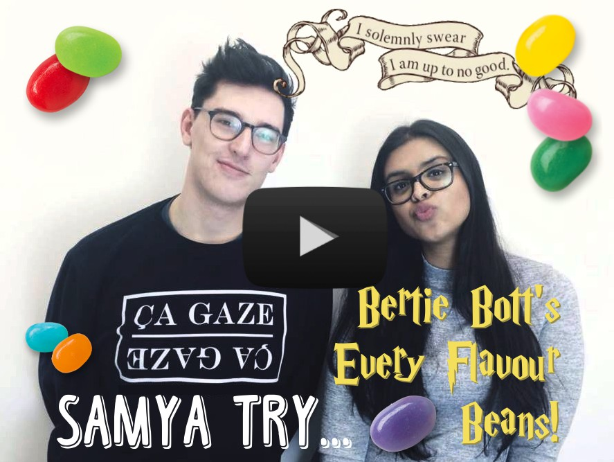 Bertie's Bott's Every Flavour Beans challenge video for MI Magazine