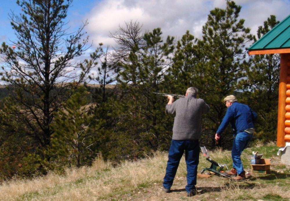 Hans & J.R shooting clay targets at SR1