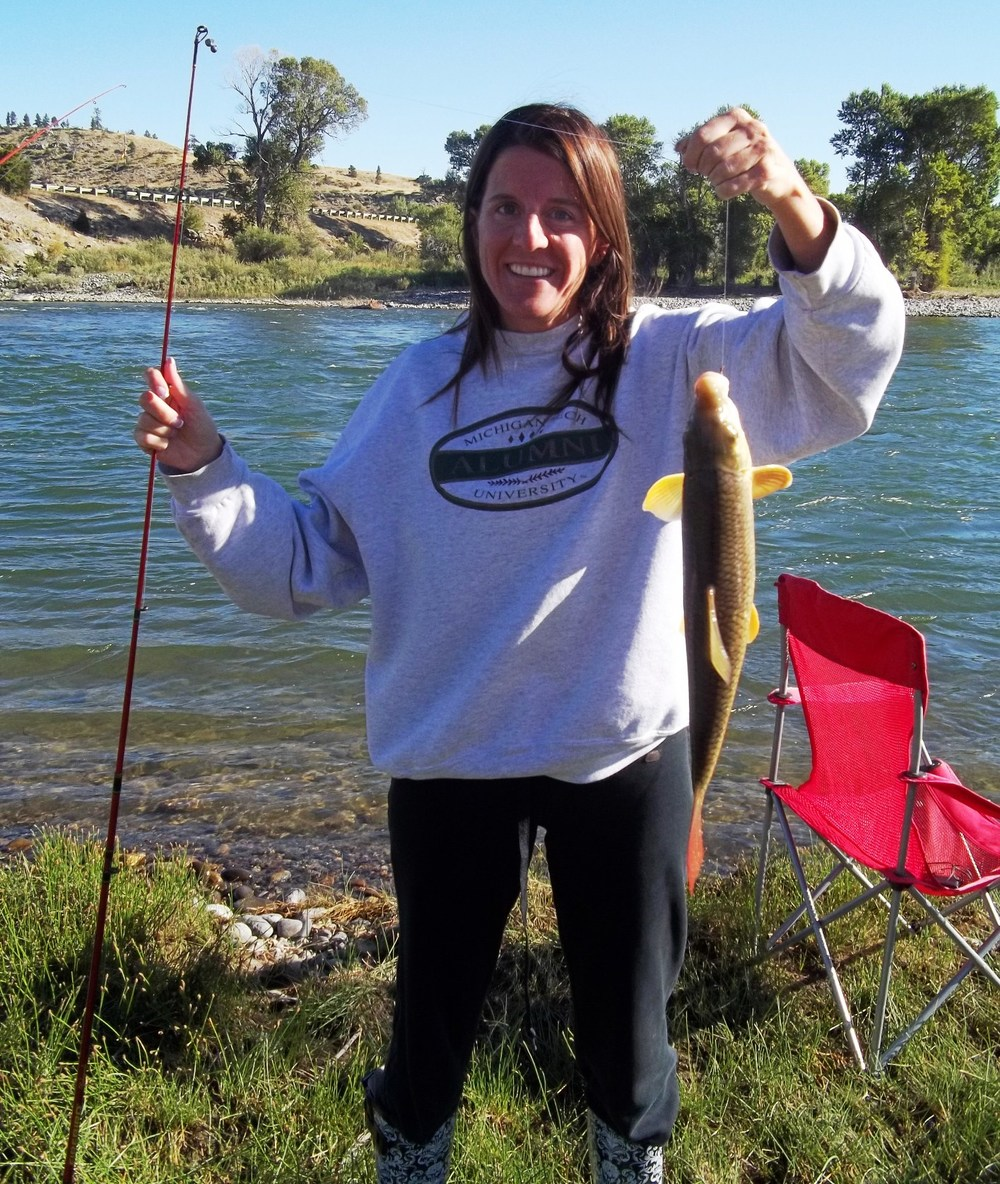 2011-09-04 - Helena catches a carp in the Yellowstone River.JPG