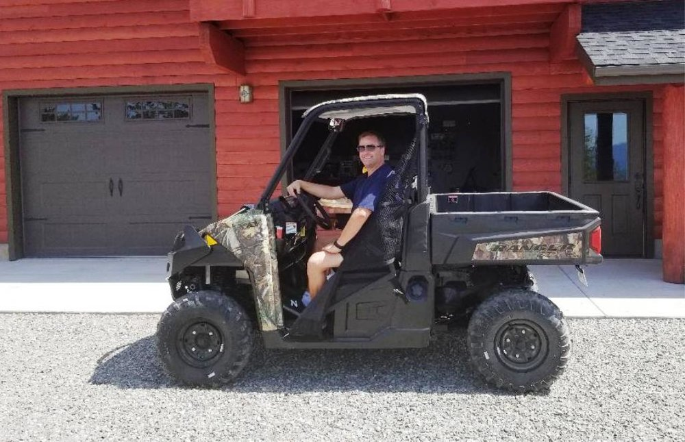 2018-07-05 Dave in his new Polaris Ranger 900 at SR2.jpg