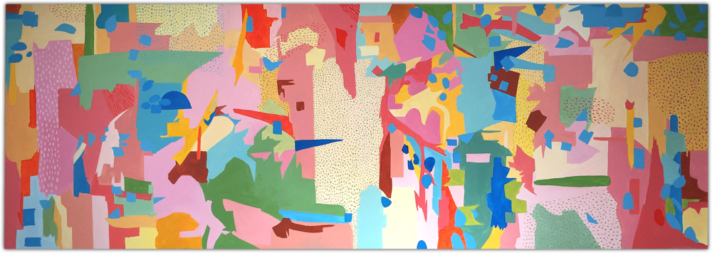 Acrylic on canvas, 4m x 1.40m