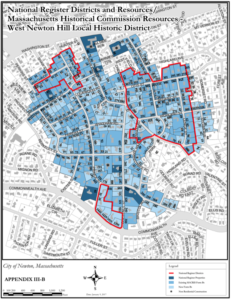 Historic District Maps  West Newton Hill Preservation