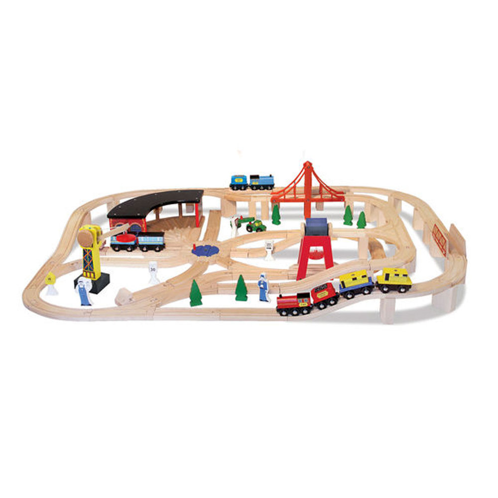 Wooden Railway Set - Whether you are a boy or girl, there is nothing quite like a fun railway set to play with.