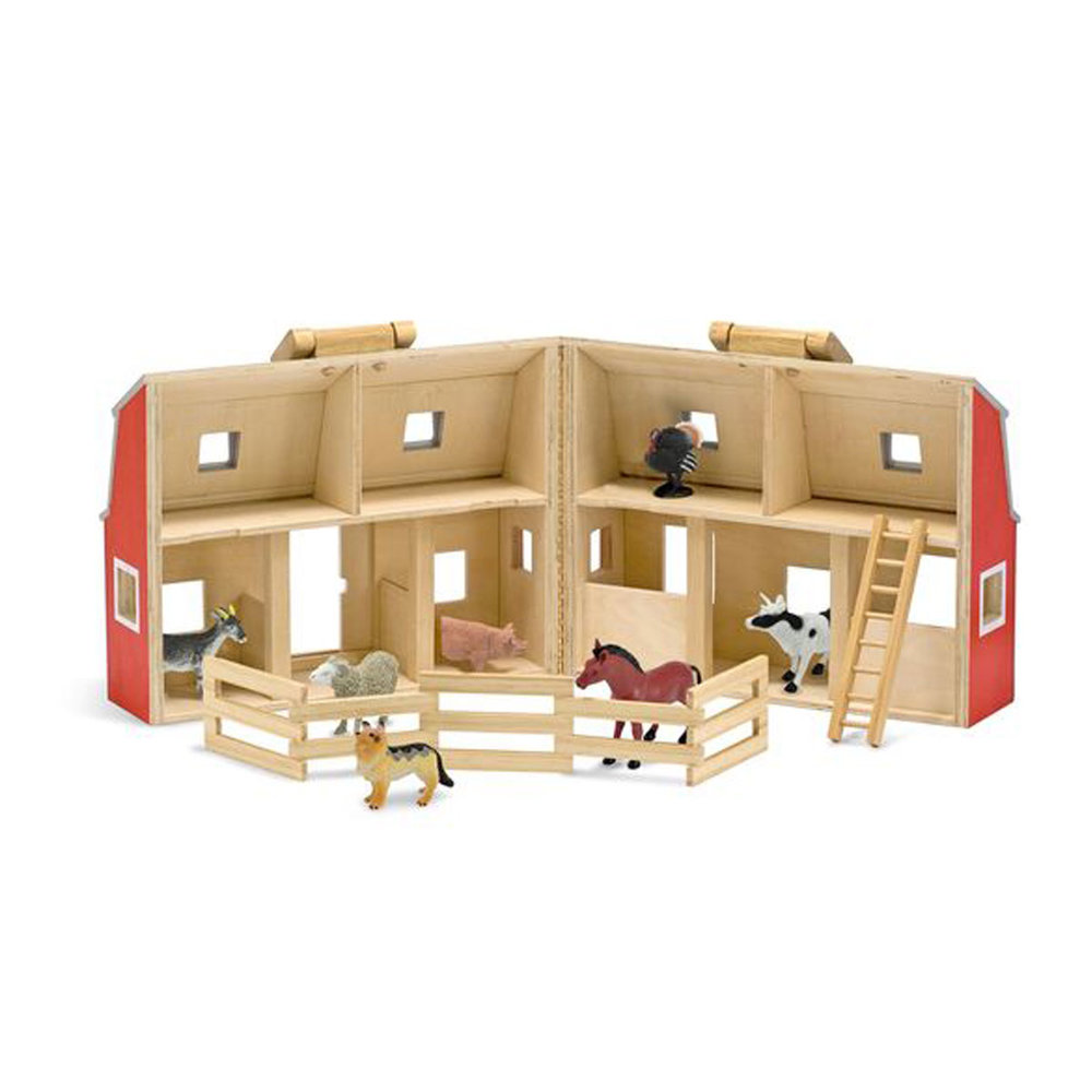 Fold & Go Barn - Every young child loves to play with animals and this fun play set let's their imagination have a great time.