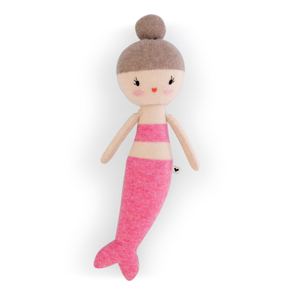 Lauvely Rose Mermaid - Little girls just love these hand-knitted dolls.