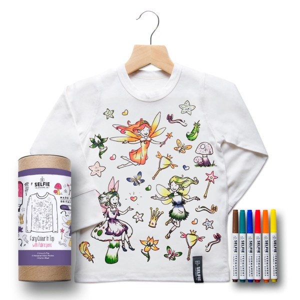 Selfie Color-On Tops - For the creative at heart these color-in tops and clothing are perfect to let your child's inner artist take flight.
