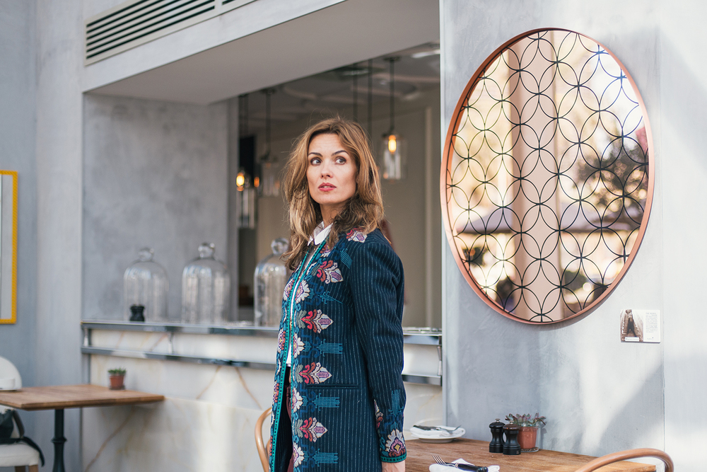 Designer Johanna Abchee photographed at La Serre, Dubai.