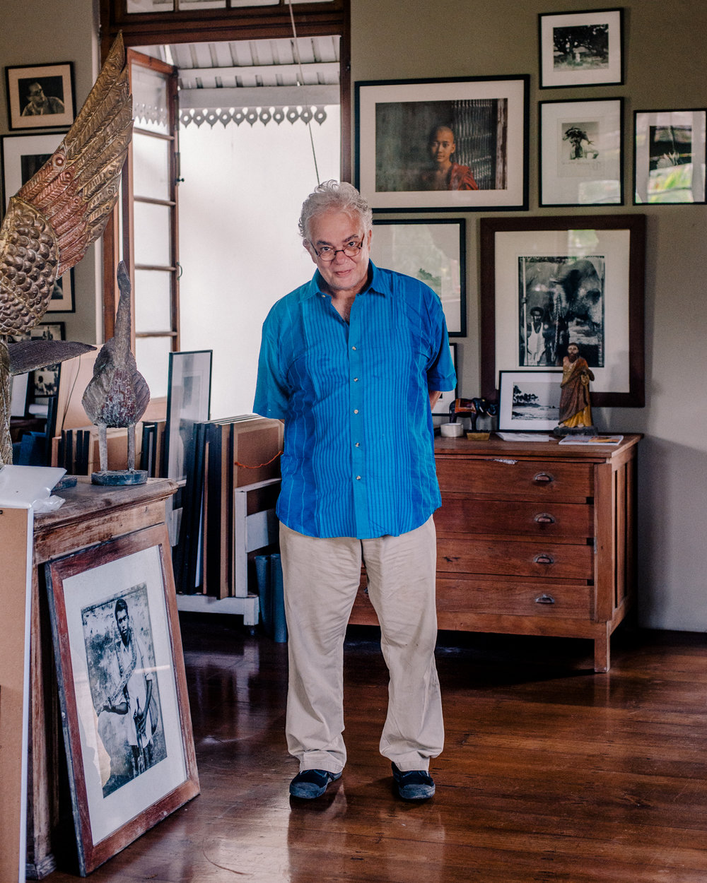 Dominic Sansoni – cafe owner and collector of historic Sri Lankan photography – at his office in Colombo for Monocle.